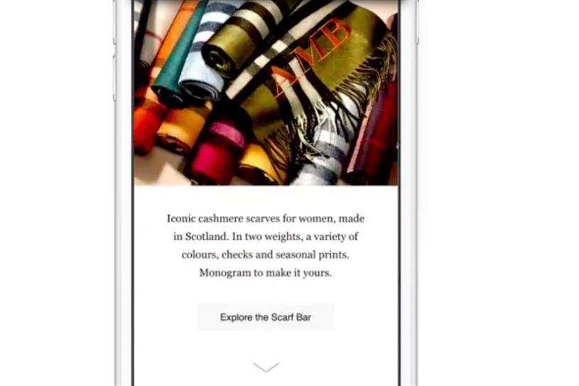 Burberry: it has been testing Canvas