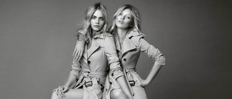 Burberry: Cara Delevingne and Kate Moss for the 'My Burberry' campaign