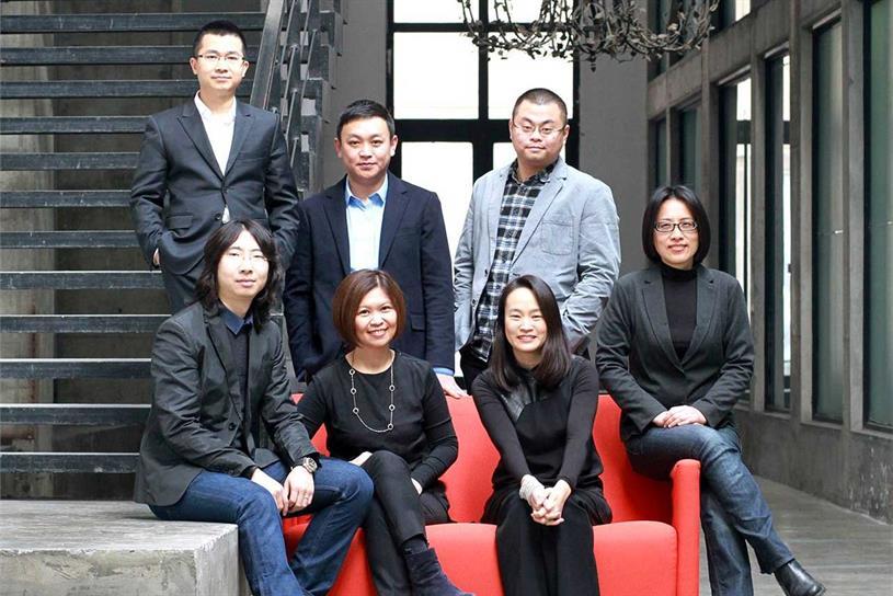 (Back row) Matt Zheng, Jack Wang, Tiger Tu (front row) Piemeng Cai, Jean Lin, Jane Linbaden, Amanda Lai