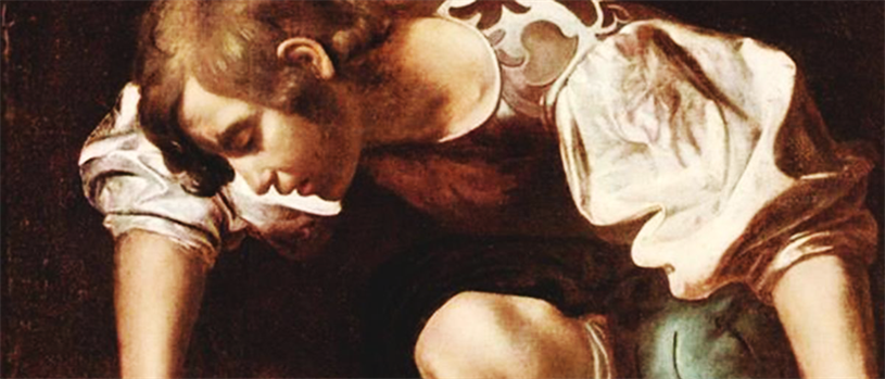 Caravaggio's depiction of Narcissus (credit: Wikimedia Commons)