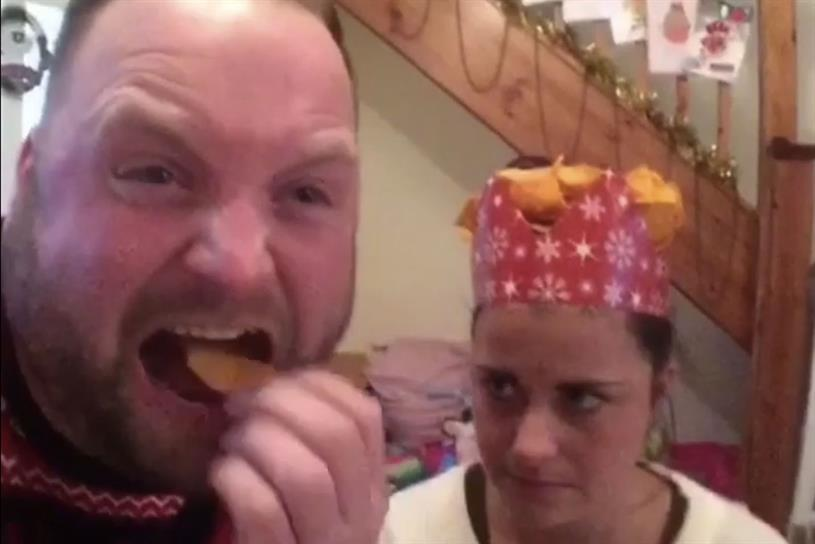 Doritos: Social media ads featuring comedian Aaron Crascall will run in December