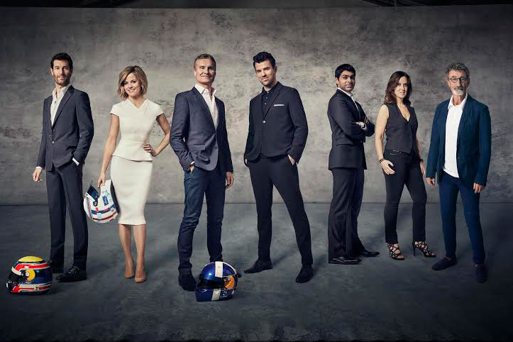 Channel 4's F1 presenting team will be led by David Coulthard and Steve Jones (third and fourth from left)