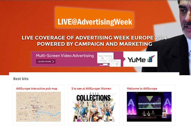 LIVE@AdvertisingWeek: the live blog will run Monday to Thursday