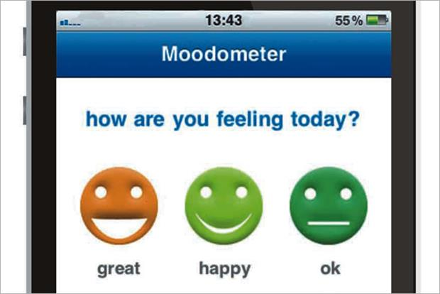 Muabloo: created the Moodometer app for the NHS in 2011