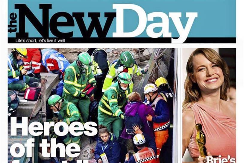 The New Day: Sales have been far below Trinity Mirror's target of a 200,000 daily circulation