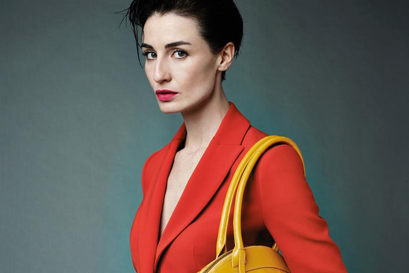 Erin O'Connor: the model features in the latest campaign from handbag manufacturer Radley