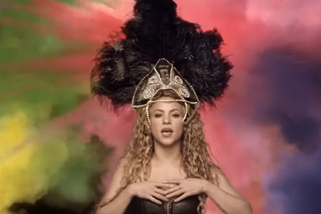 Shakira: her World Cup-themed video tops this week's viral chart