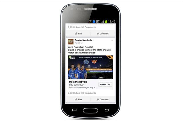 Facebook: testing call back advertising format