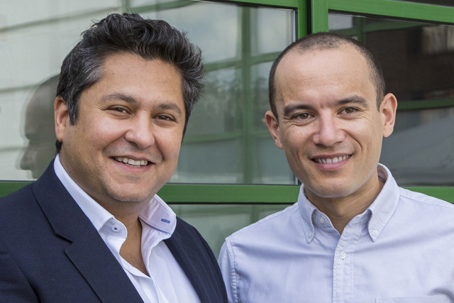 Reunited: McCann London chief executive Zai-Al-zaidy, left, with Tom Wong