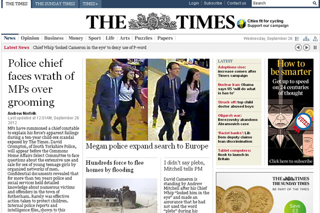 The Times: online content to appear in Google search listings as marketing ploy