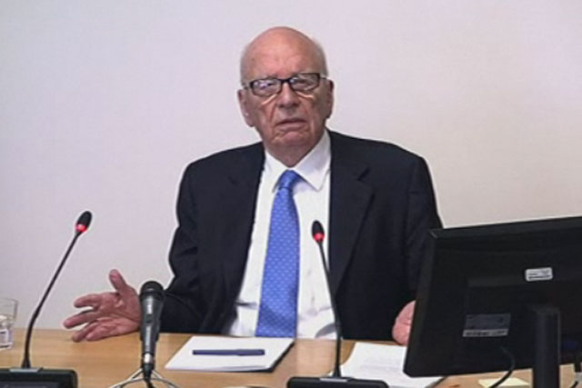 Rupert Murdoch: News Corporation's chairman at the Leveson inquiry last week