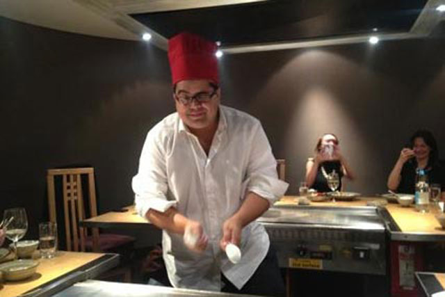 Liam Mullins: cooking up a storm at Benihana