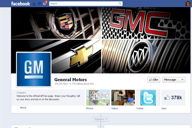 GM Facebook page: US car giant to cut Facebook ads