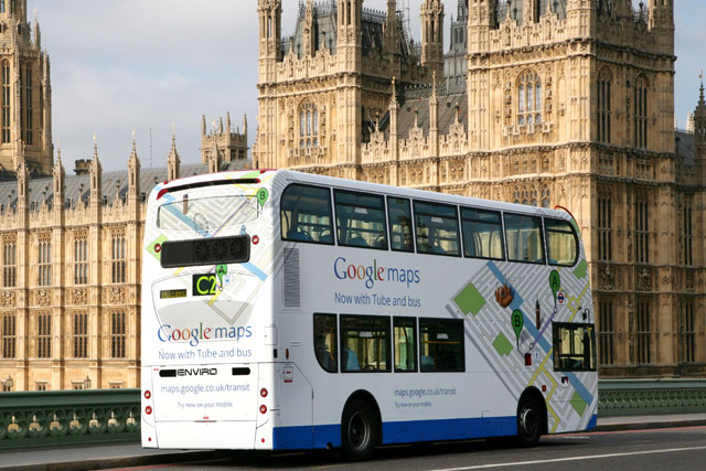 Google bus: search giant launches Google Transit in London