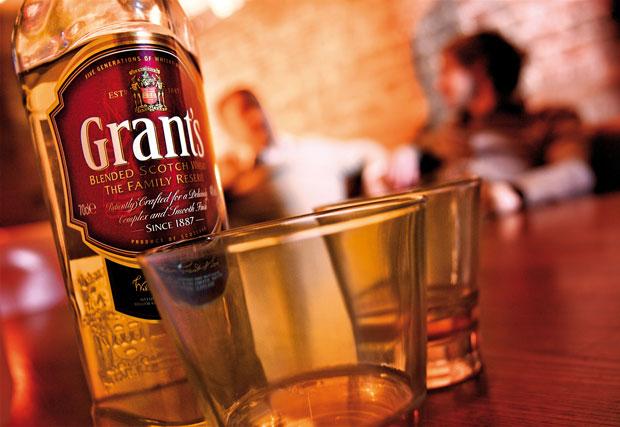 Grant's Whisky: sponsoring ITV4 programming including 'Minder'
