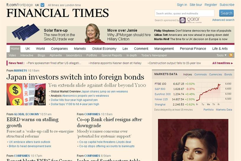 Financial Times: joins Flipboard