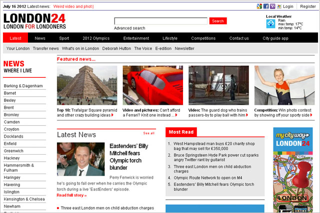 London24: local news from Archant's 19 London-based newspapers.
