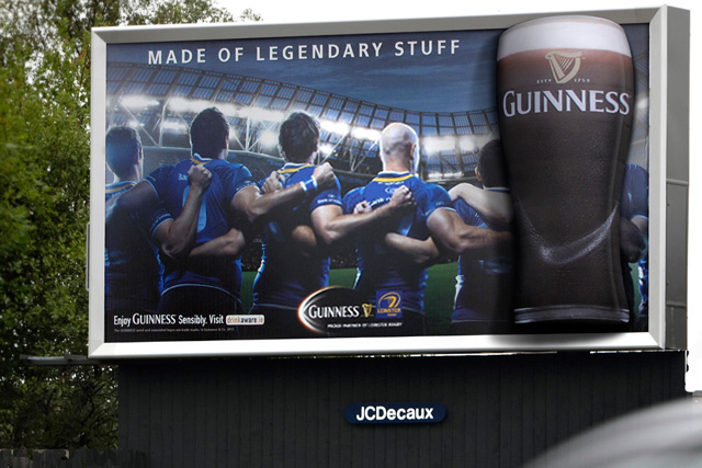 JCDecaux and Airvertise: run Guinness campaign