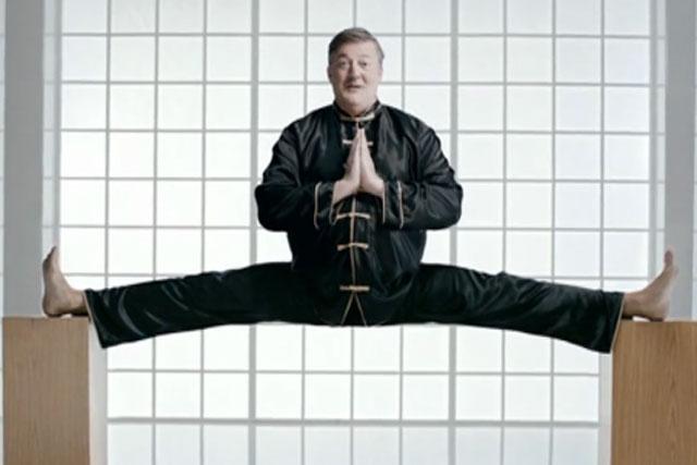 Stephen Fry: stars in martial arts-themed TiVo ad for Virgin Media