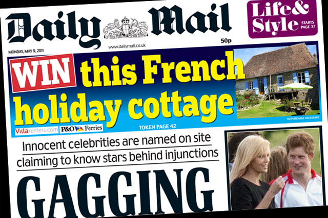 The Daily Mail: Holiday cottage offer
