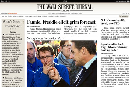 WSJ: launches Europe iPad app