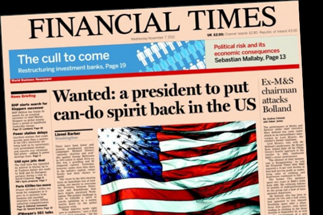 Financial Times: Pearson denies report that newspaper is up for sale