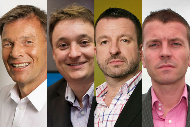 Richard Park, Clive Dickens, Steve Parkinson and Adam Bullock