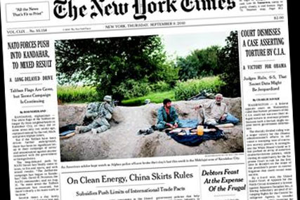 New York Times: chief casts doubt on the future of print editions