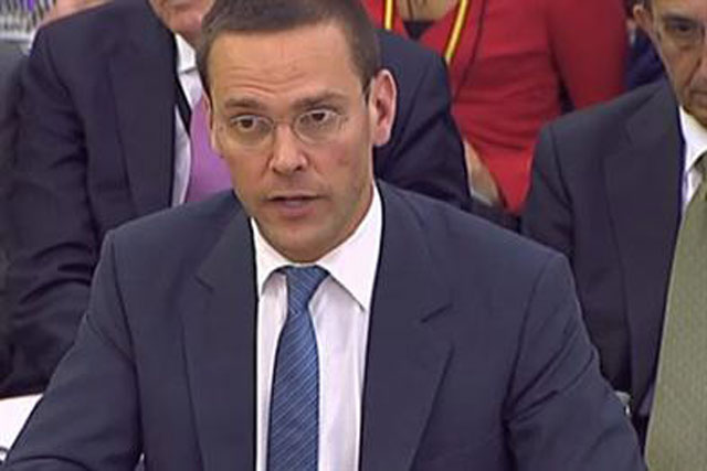 James Murdoch: stepped down last week as chairman of News International
