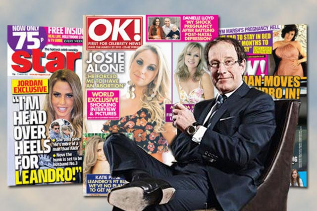 Richard Desmond: has put magazine portfolio up for sale