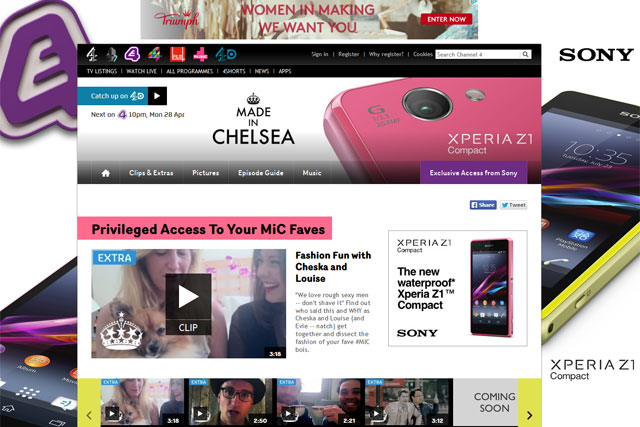 Made in Chelsea: Sony sponsors extra content on show's site