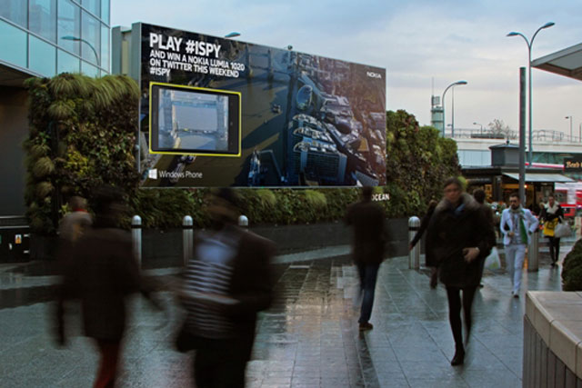Nokia and Twitter: teamed up to engage shoppers after winning the Art of Outdoor 2013