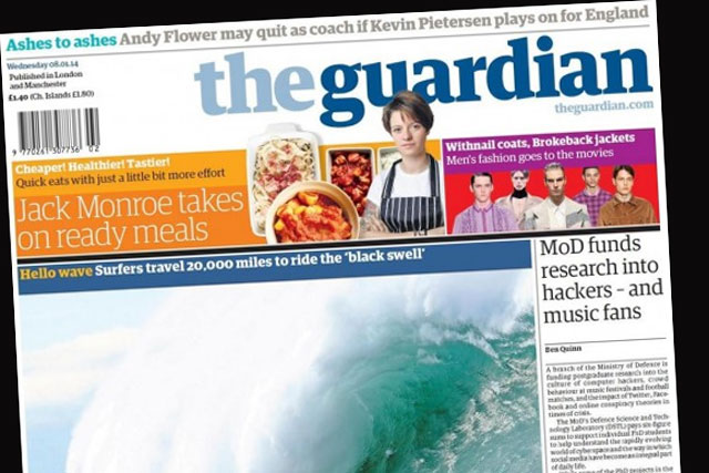 The Guardian: announces cover price rises and new Saturday supplement