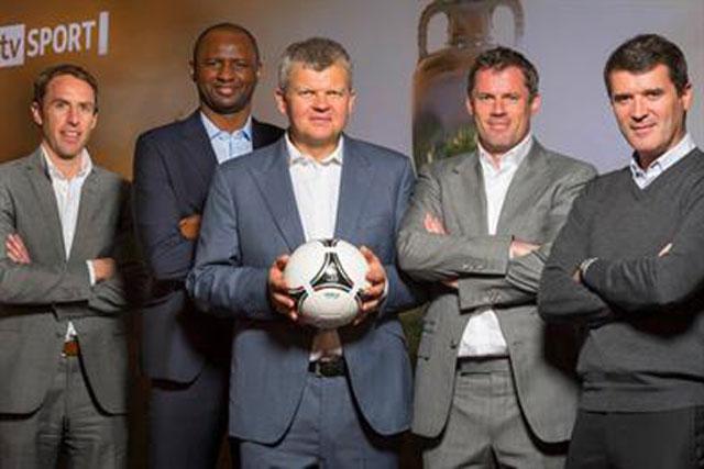 ITV Euro 2012 presenters: Gareth Southgate, Patrick Viera, Adrian Chiles, Jamie Carragher and Roy Keane