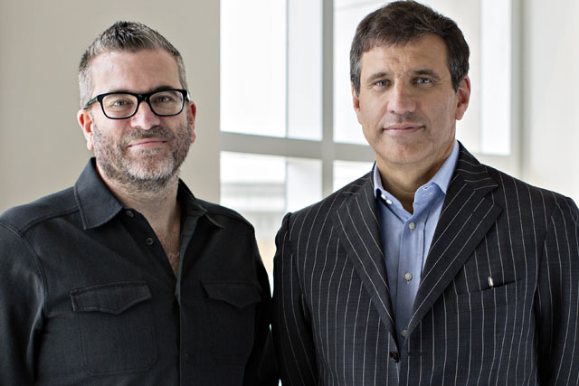 JWT: Matt Eastwood, left, with the agency's global president Gustavo Martinez