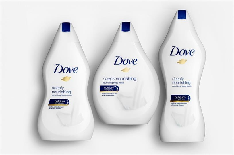 Dove body-shaped shower gel bottles ridiculed online