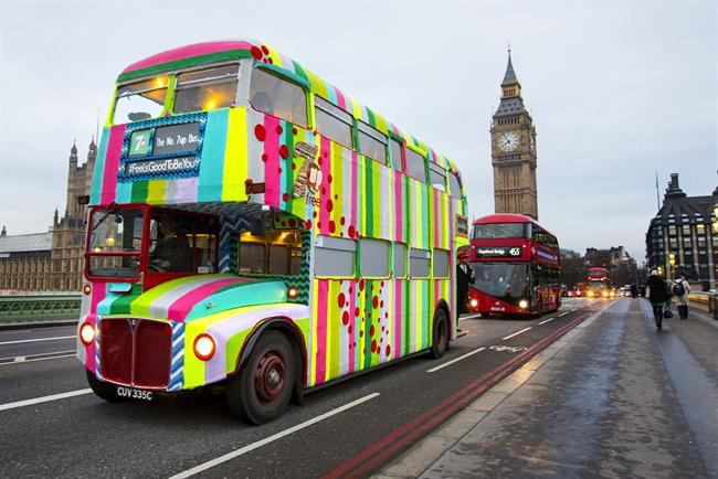 Why not a knitted double-decker bus?