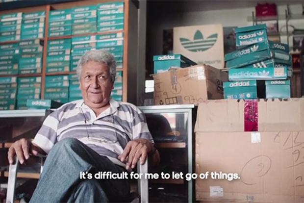 Adidas Originals ad features Carlos Ruiz, who has owned his vintage shop for 34 years