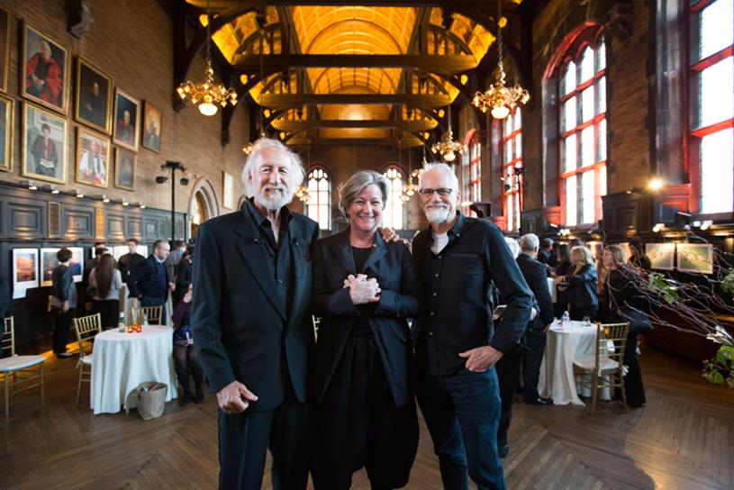 From left: Lee Clow; Colleen DeCourcy, global co-executive creative director of Wieden + Kennedy; and Dan Wieden. (Photography by Margarita Corporan)