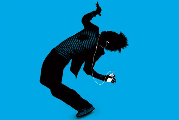 """Apple's """"Silhouette''campaign for the iPod."""