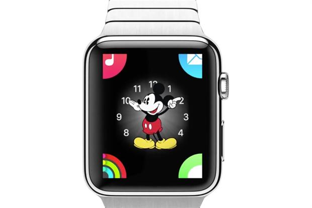 Mickey Mouse: one of the many customizable faces of the Apple Watch.