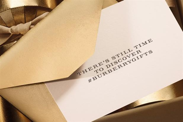 Burberry is helping Twitter users find last-minute gifts.