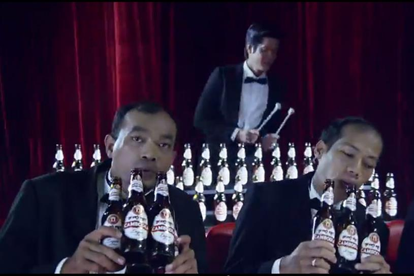 """Cambodia Beer """"Bottle Band"""" by ComZone."""
