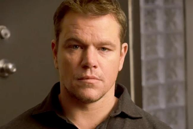Matt Damon: features in the film directed by Mike Christie