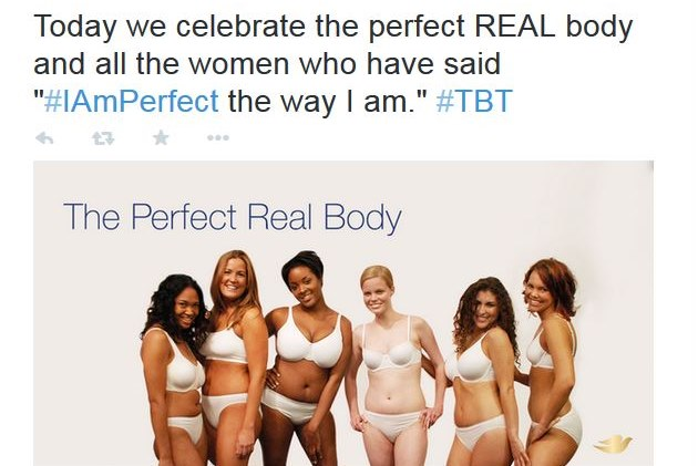 "Dove's ""Perfect Real Body."""