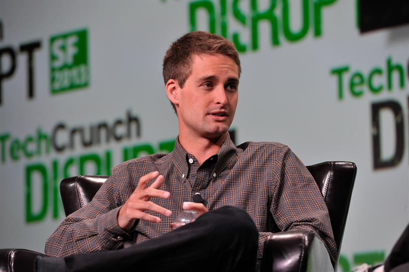 Snapchat CEO Evan Spiegal. (Photo courtesy TechCrunch via Flickr)