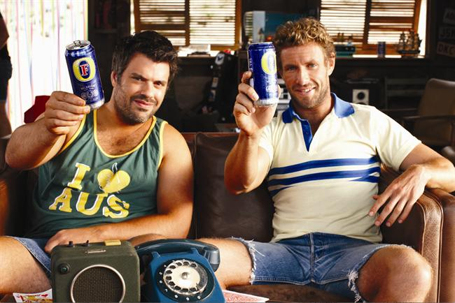 Foster's spots feature Australian comedians Brad and Dan.