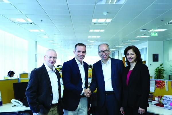 Gagan Bhalla, MD North Africa and Iran, Kantar Consumer Insights; Stephen Hillebrand, CEO MENAP, Kantar Consumer Insights; Afshin Vafadar, CEO, Rahbar Bazaar; and Azam Alibabei, Partner in Rahbar Bazaar.