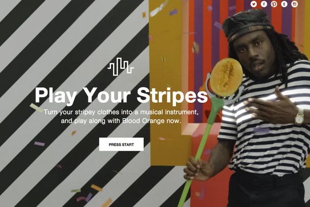 Blood Orange stars in Gap's interactive ad.