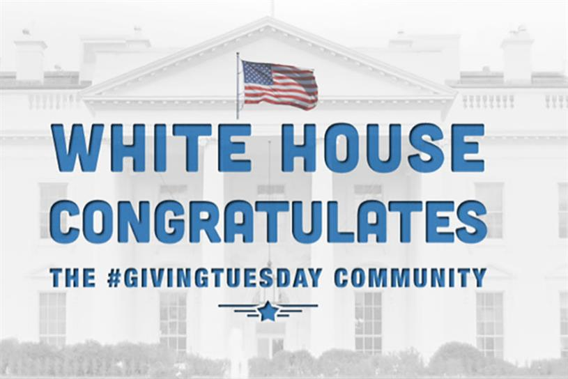The White House got into this year's #GivingTuesday spirit.